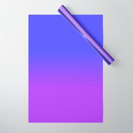 Neon Purple and Bright Neon Blue Ombré Shade Color Fade Wrapping Paper