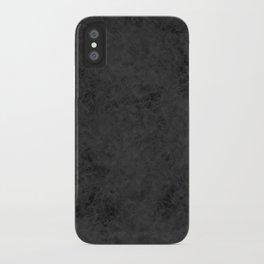 Black suede iPhone Case