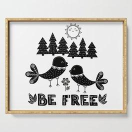 Be Free Birds In Cute Scandinavian Style Serving Tray
