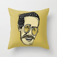 bill Throw Pillows featuring Bill by Sarah Mould