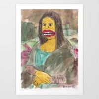 mona lisa Art Prints featuring Mona Lisa by GOONS