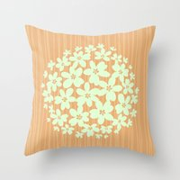 hawaiian Throw Pillows featuring Hawaiian Orange by Endless Summer