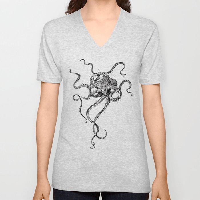Octopus Unisex V-Ausschnitt