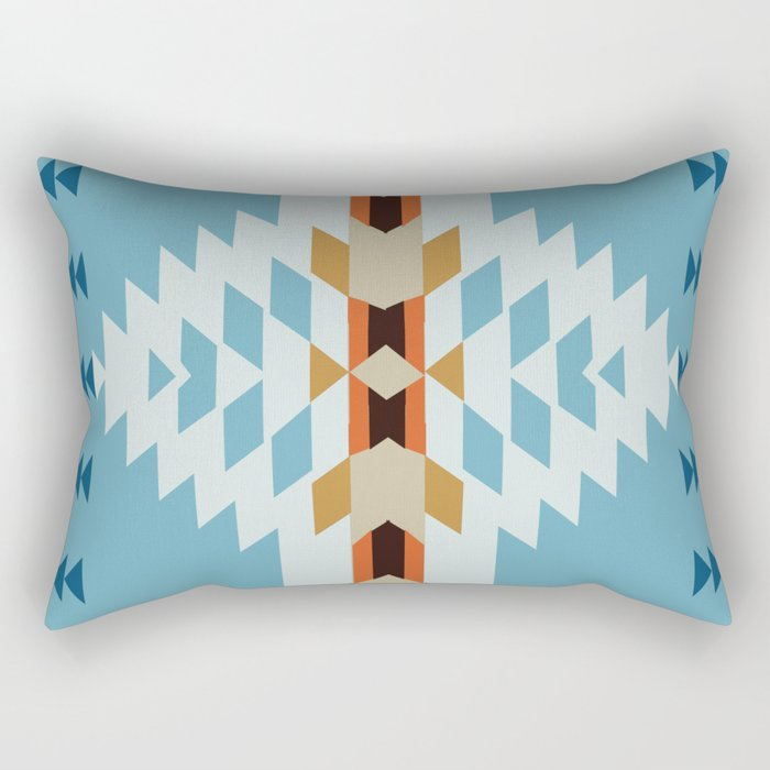 American Native Pattern No. 52 Rectangular Pillow