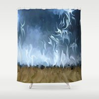 lightning Shower Curtains featuring Lightning Storm by Paul Kimble