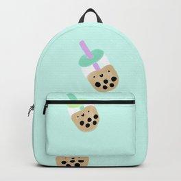 Blue Boba Milk Tea Backpack