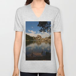 What A Beautiful Day At Sylvian Lake Unisex V-Neck
