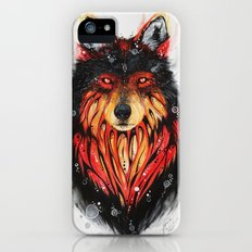 Fire Wolf iPhone (5, 5s) Slim Case