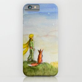 Little Prince, Fox and Wheat Fields iPhone Case