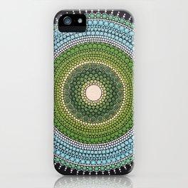 Green Blue Mandala iPhone Case