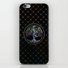 Glowing symbol for Vriksasana - Yoga Tree pose iPhone Skin