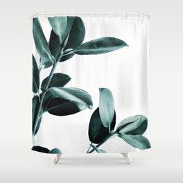 Rubber Plant Shower Curtains