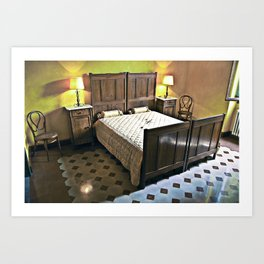 Sardinian bed room  Art Print