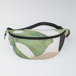 Abstract Art Tropical Leaves 3 Fanny Pack