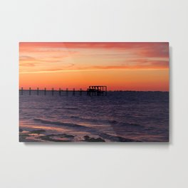 Sunset Off Pine Island Metal Print