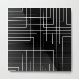 ABSTRACT GEOMETRIC VI Metal Print