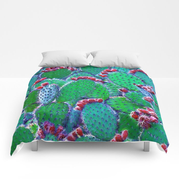 Flowering cacti Comforters