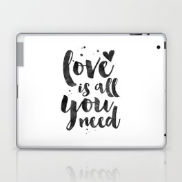 LOVE WALL DECOR, Love Is All You Need,Family Sign,Family Gift,Living Room Decor,Boyfriend Gift,Coupl Laptop & iPad Skin