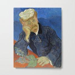 Vincent van Gogh - Dr Paul Gachet Metal Print
