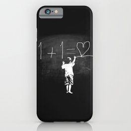 One Plus One Equals Love iPhone Case