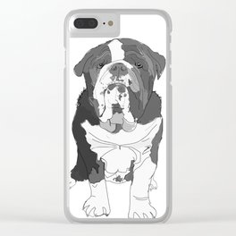 English Bulldog Brothers Clear iPhone Case