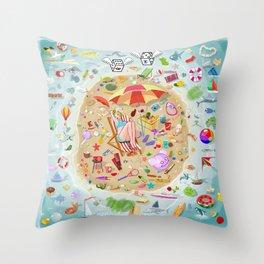 Loony Island Throw Pillow