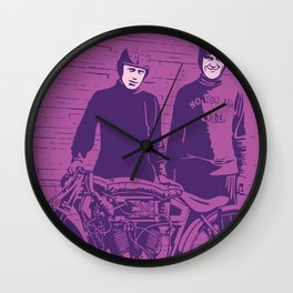 Motorcycle Board Track Racer 5 Wall Clock