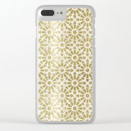Hara Tiles Gold Clear iPhone Case