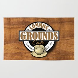 Common Grounds Cafe Logo Rug