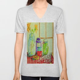 Kitchen Light Dancing Unisex V-Neck