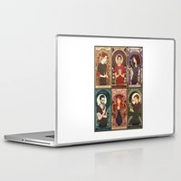 nouveau Laptop & iPad Skins featuring Nouveau Wolf by callahaa