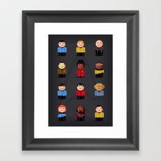 Star T - Little Ppl Framed Art Print