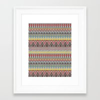 whisky Framed Art Prints featuring WHISKY AZTEC  by Kiley Victoria