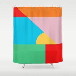 Circle Series - Summer Palette No. 2 Shower Curtain