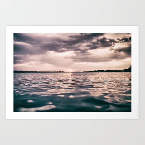 The calm #lake Art Print
