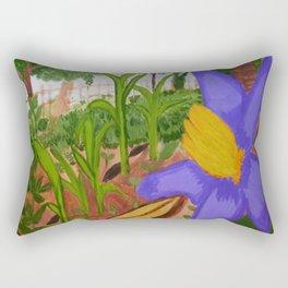 Flower from the backyard Rectangular Pillow