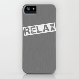Grey Relax iPhone Case
