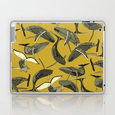 just whales yellow Laptop & iPad Skin