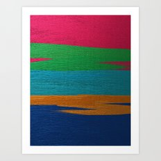 Linear Abstraction Art Print