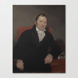 Eli Whitney by Samuel Finley Breese  by Samuel Morse 1822 Canvas Print