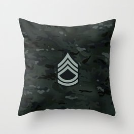 Sergeant First Class (Urban Camo) Throw Pillow