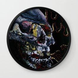 Society Skull Wall Clock