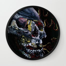 Society Skull Wall Clock