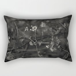 first blossoms - black'n white Rectangular Pillow