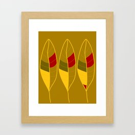 Golden Fall Leaves Framed Art Print