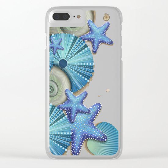 SEA SHELLS ON THE BEACH Clear iPhone Case