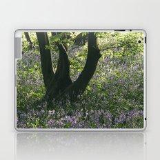 Wild Bluebells in ancient woodland. Wayland Wood, Norfolk, UK. Laptop & iPad Skin