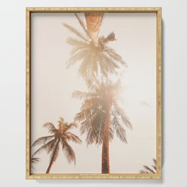 Golden State of Mind - California Palm Trees Serving Tray