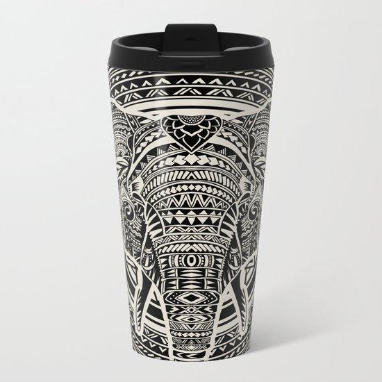 Polynesian Elephant Metal Travel Mug
