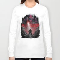 attack on titan Long Sleeve T-shirts featuring Attack On The Future by Six Eyed Monster